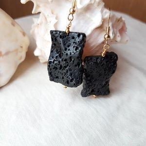 Jewelry - Black Lava stone earrings